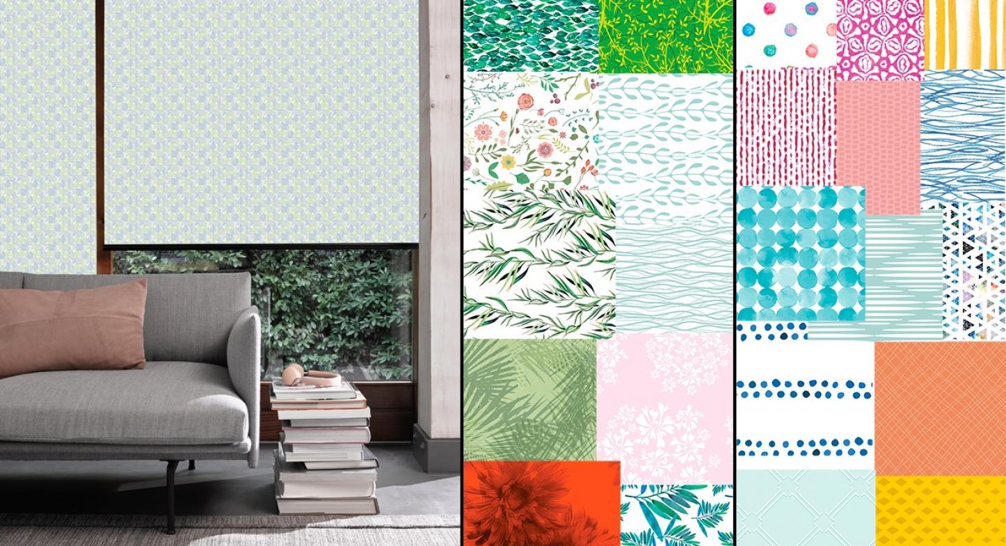 Coleção Etherea da Hunter Douglas apresenta cortina rolô com estampas