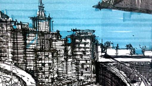Hunter Douglas recebe exposição com Sketches do Arquiteto José Ricardo Basiches