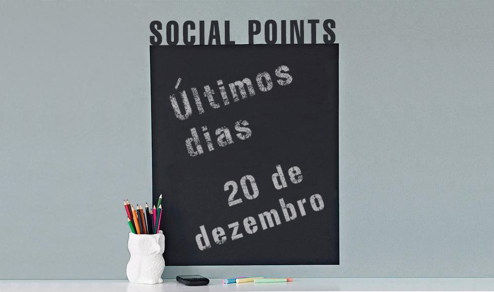Social Points: O prazo final para envio de seus projetos está chegando.